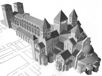 Rekonstruktion Klosteranlage Cluny
