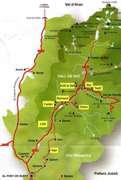 Caldes De Boi Mapa.Vall De Boi